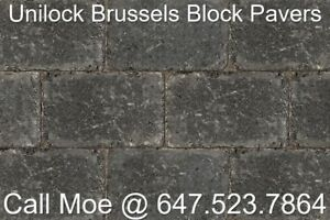 Midnight CharcoalBrussels Block Pavers Unilock Interlock Pavers