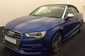 Blue AUDI S3 CABRIOLET CONVERTIBLE 2.0 T FSI Petrol QUATTRO FROM £147 PER WEEK!