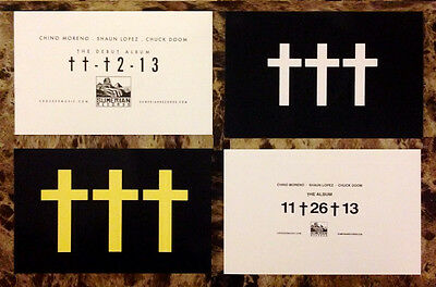 CROSSES (†††) Ltd Ed RARE Stickers Lot +FREE Metal Rock Stickers! DEFTONES FAR