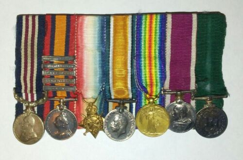 Miniature British Army Medals All Original, Boer War, WWI Era & Later, Mounted