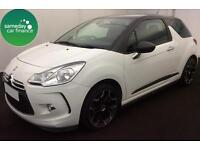 £165.83 PER MONTH WHITE 2013 CITROEN DS3 1.6 VTI DSTYLE PLUS 3 DR PETROL MANUAL