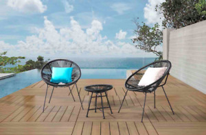 Outdoor Aluminum Resin Wicker Bistro Sets for Balcony& Decks