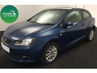 £139.27 PER MONTH BLUE 2012 SEAT IBIZA 1.4 SPORTCOUPE SE PETROL MANUAL