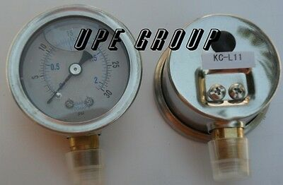 Liquid Filled Pressure Gauge Compressor Hydraulic 1.5 Face 0-30 Lower Mnt 18