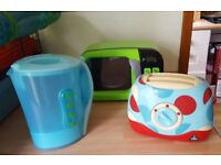 Toy microwave kettle toaster
