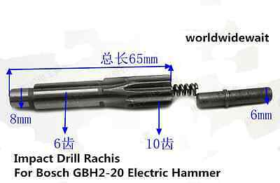 1pc Impact Drill Rachis For Bosch Gbh2-20 Electric Hammer