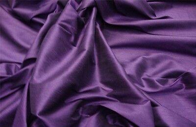 Shantung Plum Drapery wedding Silk Faux Dupioni Solid home decor Fabric by - Plum Wedding