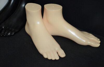 1 Pair New Unisex Feet Mannequin Plastic Stand Socks Torso Dummy Part Foot Skin