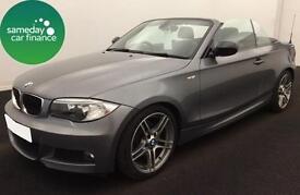 £229.47 PER MONTH GREY 2013 BMW 118D 2.0 SPORT PLUS CONVERTIBLE DIESEL MANUAL