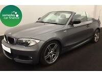 £229.47 PER MONTH GREY 2013 BMW 118D 2.0 SPORT PLUS CONVERTIBLE DIESEL MANUAL