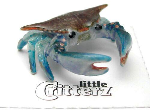 ➸ LITTLE CRITTERZ Aquarium Ocean Life Miniature Figurine Crab Blue Crab Calli