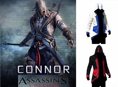 Connor Kenway Hoodie Jackets Coats Costume For Assassin′s Creed 3 Cosplay Party](Assassins Creed Costume Connor)
