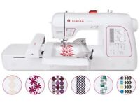 Singer xl-580 sewing/embroidery machine in as new condition