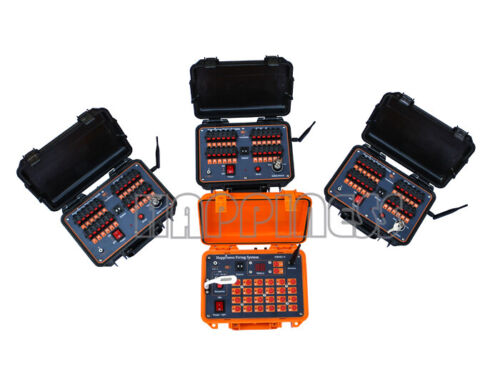 fireworks firing system, 72 cues remote or wire system, expand to 2400 cues