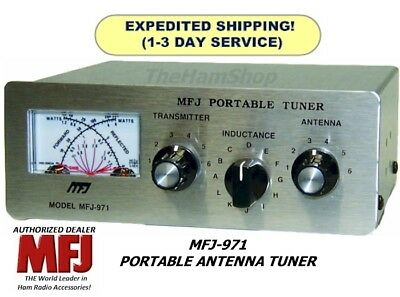 MFJ-971 Antenna Tuner With Cross Needle Power & SWR Meter, 1.8-30 MHz, 200W. Buy it now for 117.95