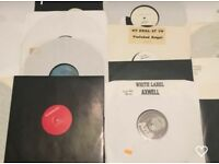 Vinyl Records. House music mixed Genres. All white labels or Promos
