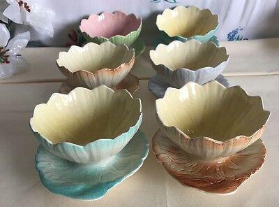 vintage ROYAL Winton Grimwade Lustre Ware Lotus Bowls X 6 MADE IN ENGLAND