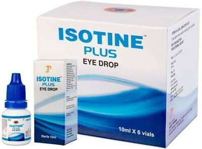 Herbal Eye Treatment (6 X ISOTINE PLUS  EYE DROPS BEST TREATMENT Pure Herbal and 100% Genuine HU )