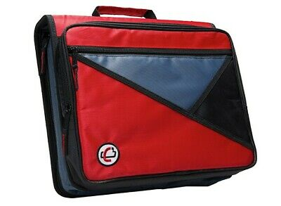 Case-it Universal 2-inch 3-ring Zipper Binder Holds 13 Inch Laptop Red Lt-007
