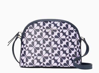 Kate Spade Dome Crossbody Bag ~ Hollie Spade Clover Geo Purple/blue -