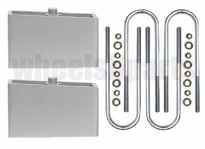 "Ranger Lift Kit Rear 2"" Aluminum Blocks & U Bolts 1998-2011 Ford 4x4 4x2"