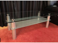 Furniture Village toughened glass living room coffee table