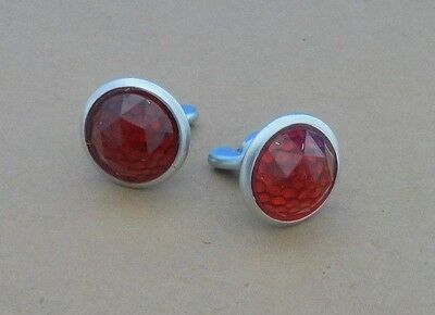 Vintage Style Bicycle Reflectors- Pair- Schwinn-Murray-Huffy* License Plate- RED