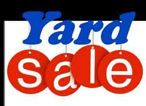 YEARLY YARD SALE, DON'T MISS THIS ONE!!!