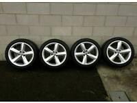 17 inch genuine audi vw s line alloy wheels pcd 5x112
