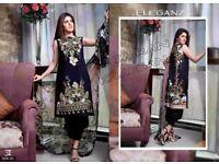 Designer pakistani suits unstiched linen suits