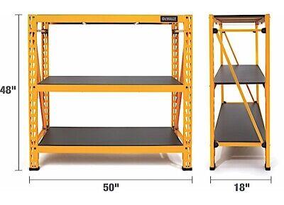 Dewalt 4ft Steel And Laminate 3 Shelf Garage Storage Rack 50w X 18d X 48
