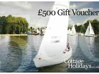 £500 voucher to stay in a cottage anywhere in UK