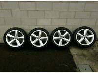 Genuine audi vw s line alloy wheels 17 inch