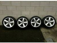 17 inch genuine audi s line alloy wheels
