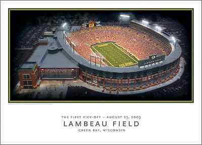 AMAZING AERIAL POSTER - GREEN BAY PACKERS - LAMBEAU FIELD PRINT - RODGERS - -
