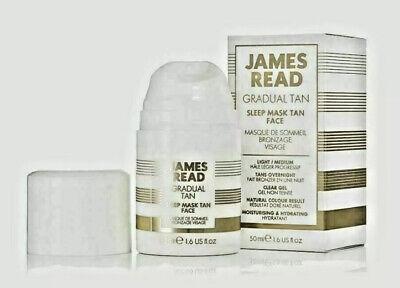 BNIB James Read Gradual Tan Light Medium Sleep Mask Face 50ml Clear Gel
