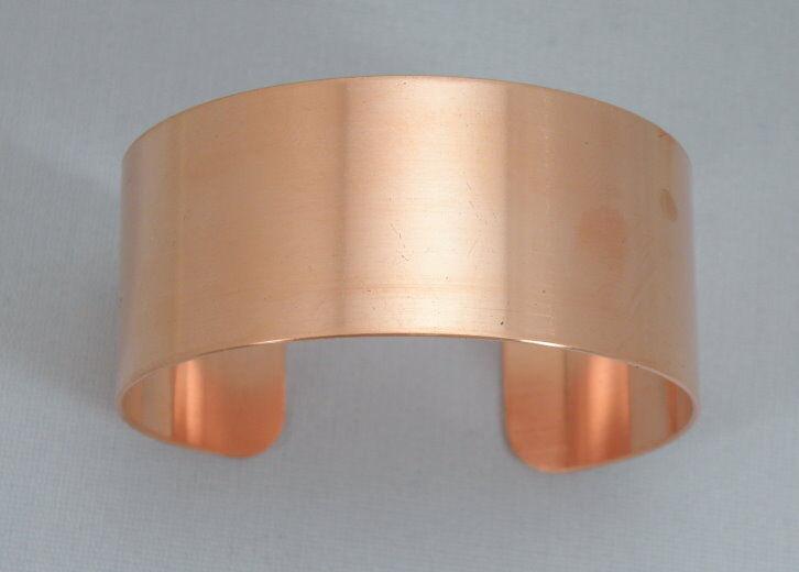 "Copper Cuff Bracelet Blanks, 20 gauge, 1"" x 6"", one dozen"