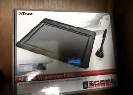 Trust graphics tablet. Draw into your PC using a pen. Boxed.