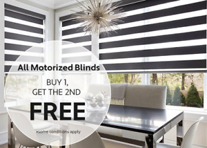 BUY ONE GET ONE FREE - MOTORIZED BLINDS