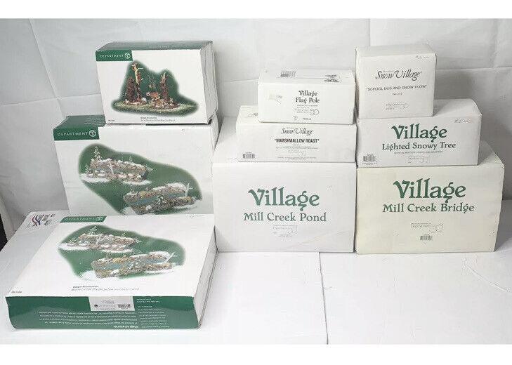 Department 56 Snow Village Accessories & Pieces | Lot Of 9 | Original Boxes