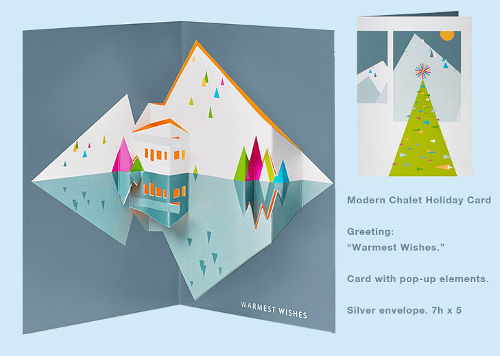 Moma Christmas Holiday Card -- Modern Chalet