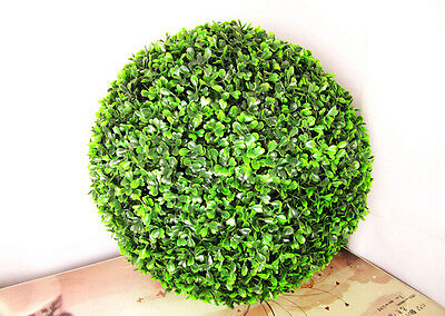 Fake Boxwood Wreath (2X45cm ARTIFICIAL BOXWOOD TOPIARY FAUX BUXUS BALLS HOUSE HOME PARTY OFFICE)