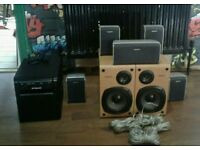 Sony 7.1 700w speakers and powerd sub all in mint condition swap sell