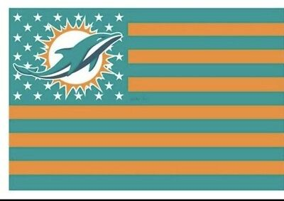 Miami Dolphins Flag (Miami Dolphins 3x5 Ft American Flag Football New In)