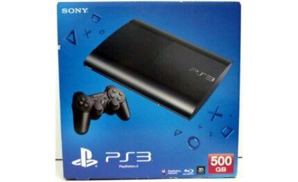 "SONY PLAYSTATION 3 NEW SUPER SLIM 500GB ""LIKE NEW"""