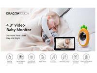 "Baby Monitor, 4.3"" HD LCD Screen, Wireless, 2-Way Audio, Night Vision, VOX, Lullabies, Temp Monitor"