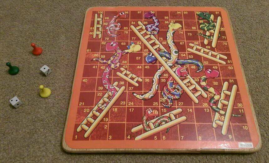 **** Snakes & Ladders Wooden Board Game ****