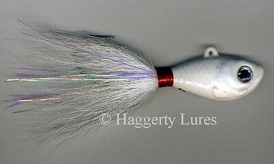 Bucktail Jigs Saltwater Surf Fluke Fishing -- Color & Size Choice 10,12,14,16oz
