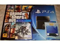 2TB PS4 WITH 2 GAMES