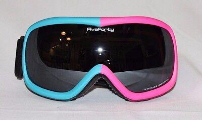 35e8f30400 Girls 540 Snow Goggles Skiing Snowboard Pink Blue Frame Mirror SmokedDouble  Lens